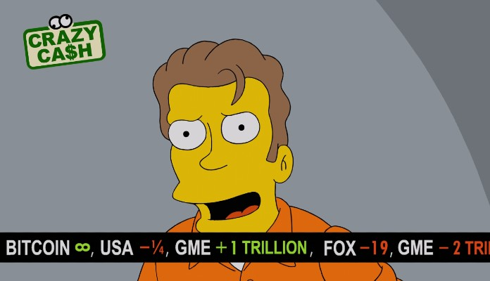 Simpsons episode shows infinitely priced bitcoin and $1 trillion Gamestop