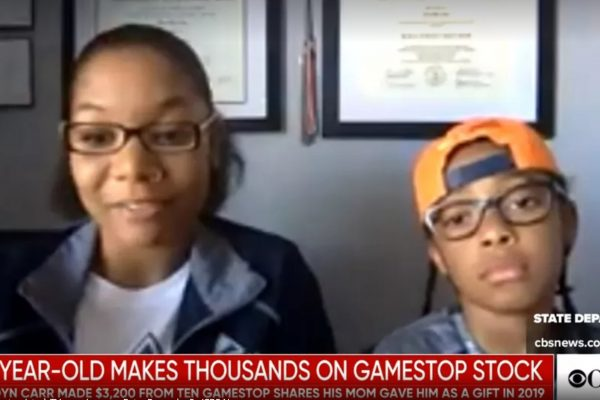 10-year-old boy returns 5,000% with GameStop shares