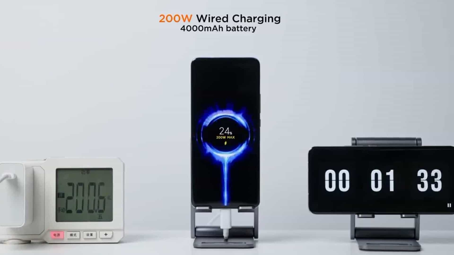 Xiaomi managed to fully recharge a mobile phone in 8 minutes