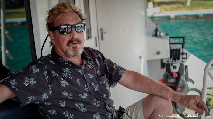 McAfee commits suicide this afternoon in a cell in Spain after cryptocurrency schemes accusations