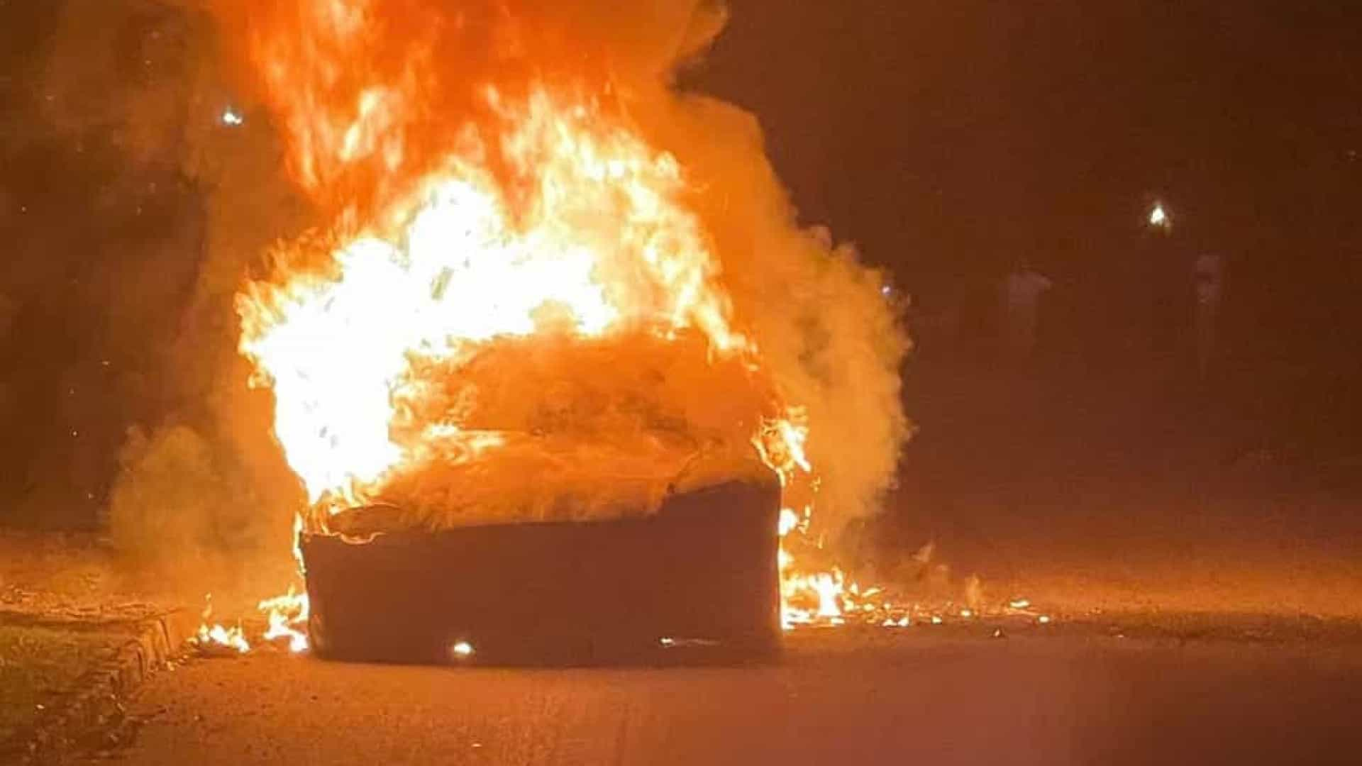 One of Tesla's new cars caught fire without explanation