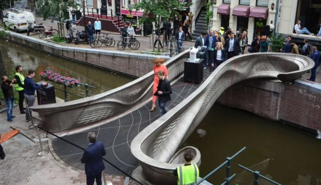 First 3D printed bridge in the world was inaugurated in Amsterdam